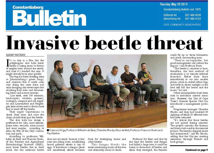 Front Page News - Constantiaberg Bulletin, Constania, Cape Town - 2 May 2019